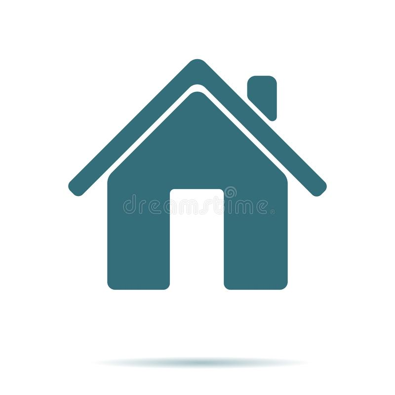 Blue Home icon isolated on background. Modern flat pictogram, business, marketing, internet concept. royalty free illustration