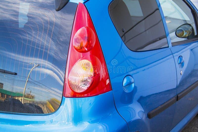 Blue honda jazz Car light. Car back light close-up. blue honda jazz royalty free stock images