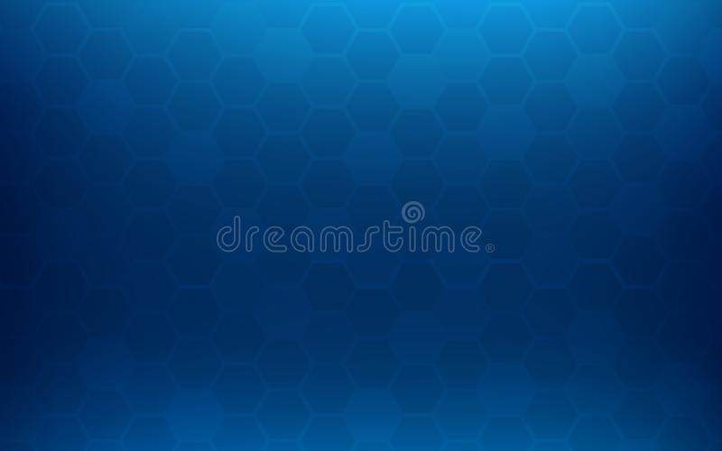 Blue honeycomb abstract background. Wallpaper and texture concept. Minimal theme stock illustration