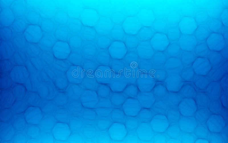 Blue honeycomb abstract background. Wallpaper and texture concept. Minimalism theme royalty free stock images