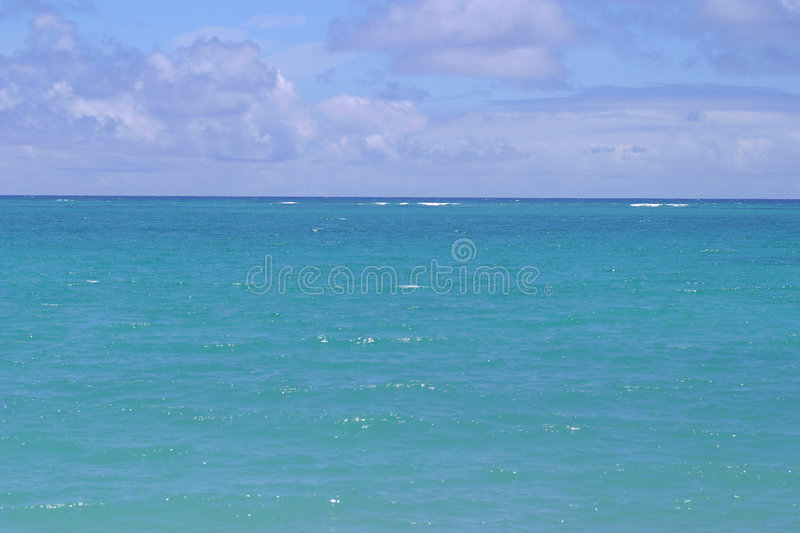 Blue Horizon on the Ocean stock images