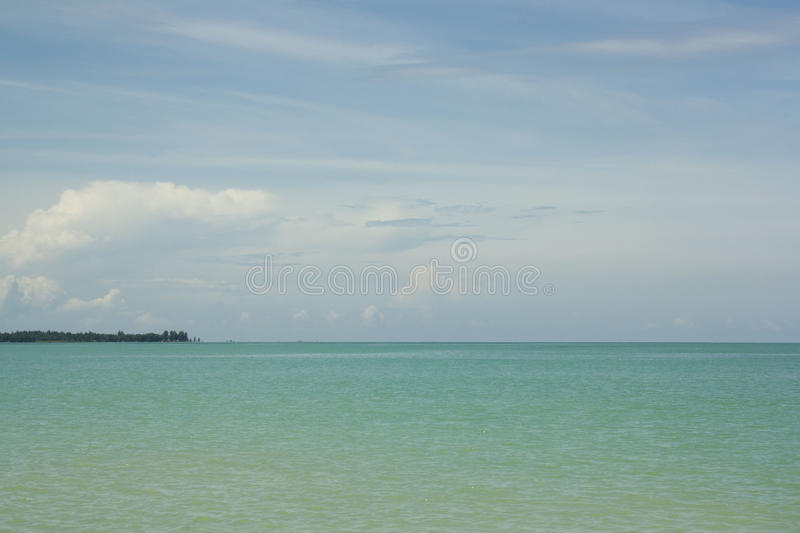 The blue horizont. The bule and turquoise horizont by the sea stock photo