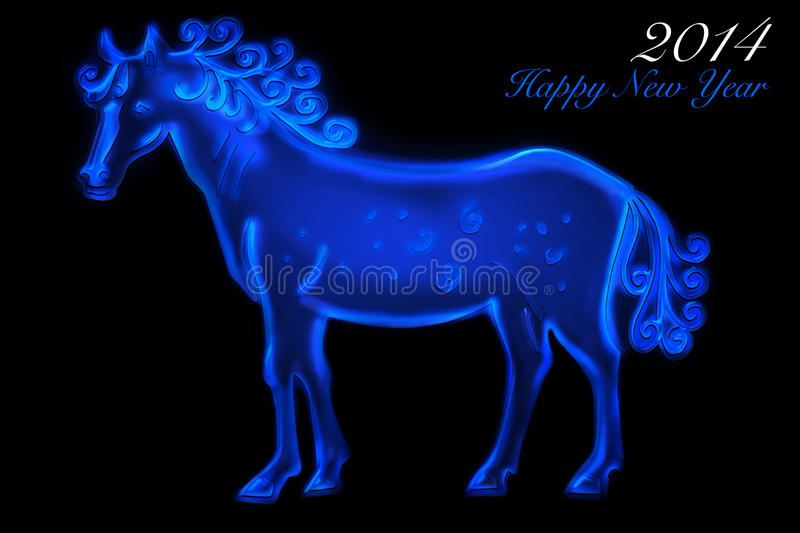 Blue Horse 2014 Royalty Free Stock Photography