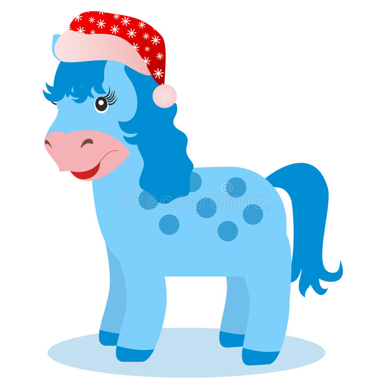 Download Blue Horse In Winter On White Background Royalty Free Stock Images - Image: 33370929
