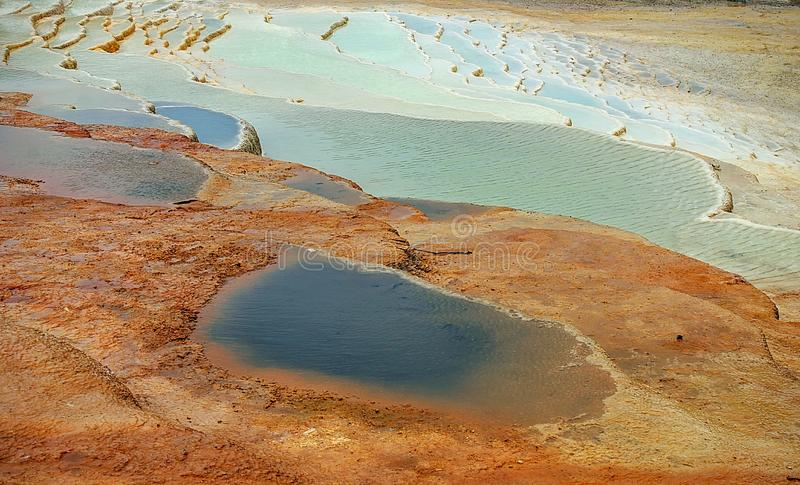 Blue hotspring royalty free stock photography