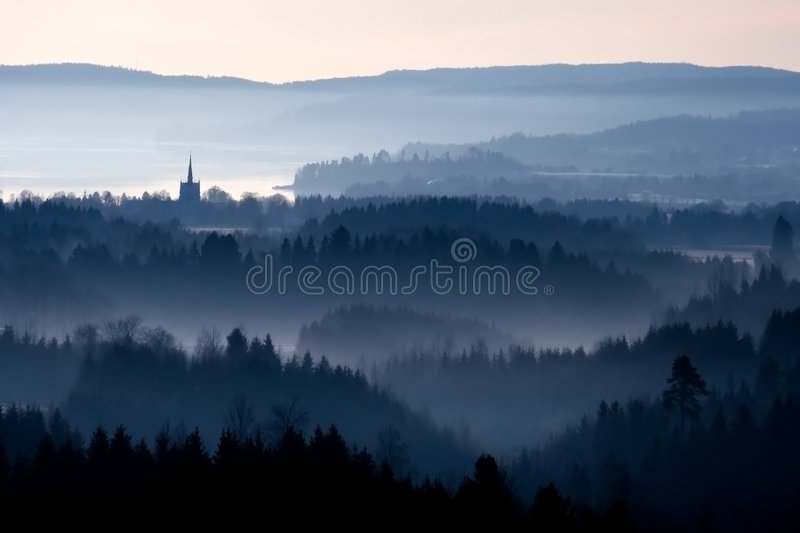 The blue hour, stock images
