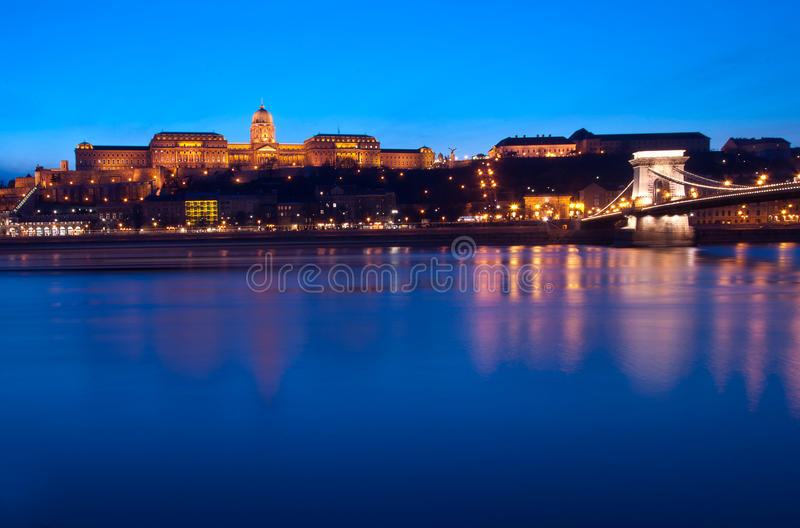 Download Blue Hour On The Blue Danube Stock Image - Image of landmarks, hungarian: 70461763