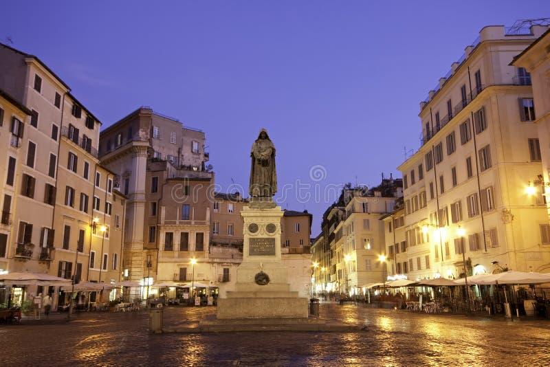 Blue hour Campo dei Fiori, Rome royalty free stock photography