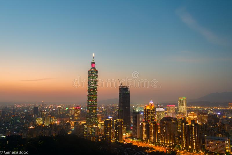 Blue Hour at Blue Elephant stock photography