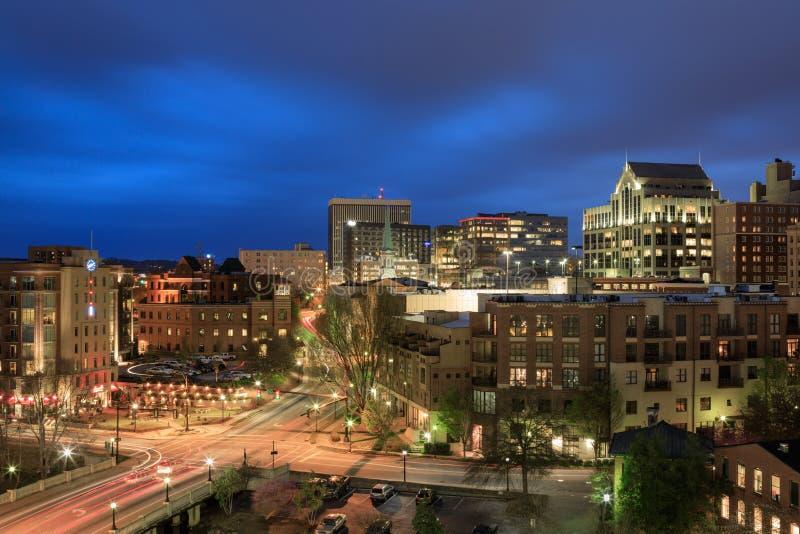 Blue Hour Greenville, South Carolina stock image