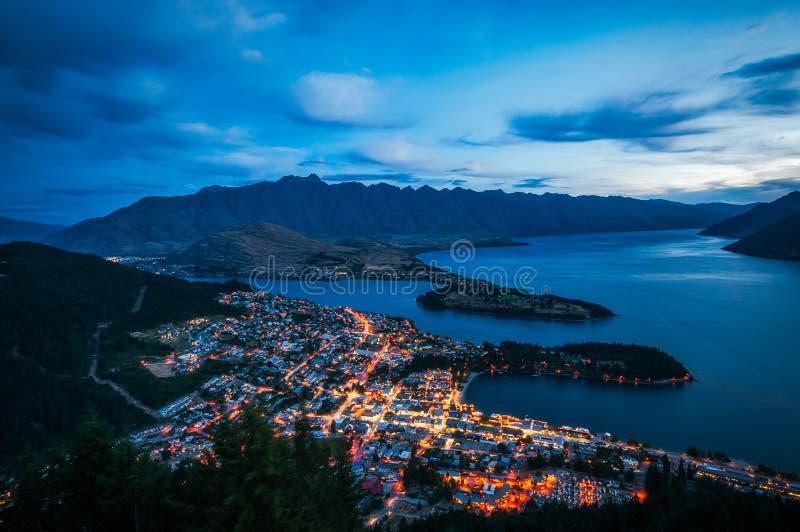 Download Queenstown City Lights, New Zealand Stock Image - Image of night, otago: 108200193