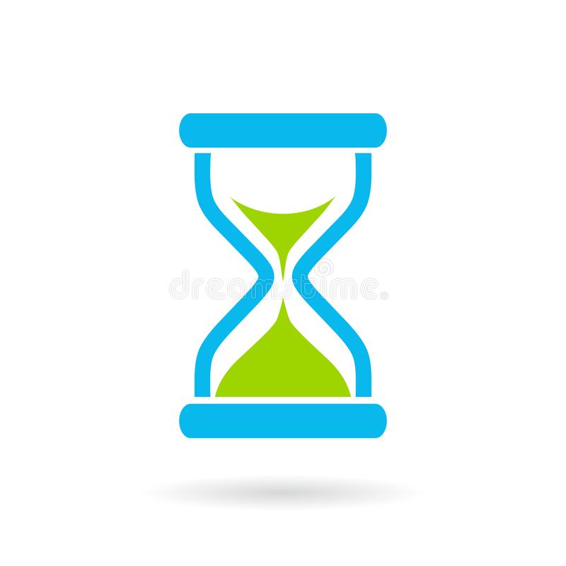 Blue hourglass vector icon vector illustration