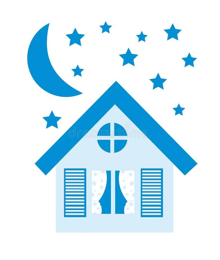 Blue house royalty free illustration