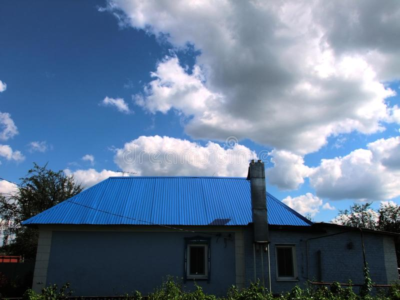 blue House stock images