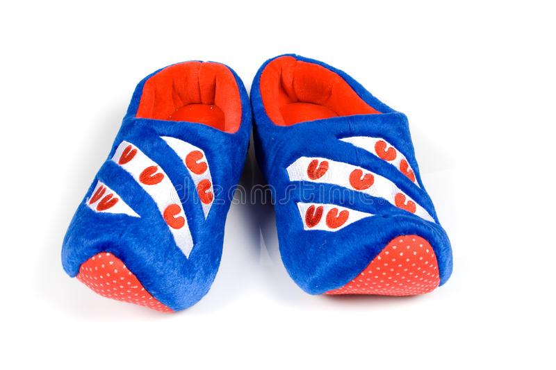 Blue House Slippers Stock Photography