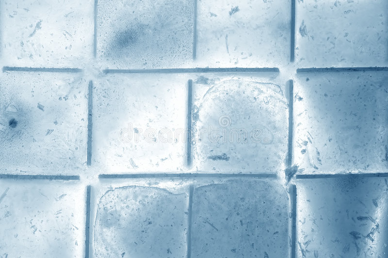 Blue ice. Cubes as background stock image