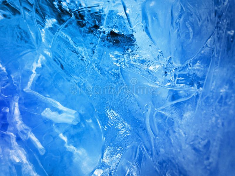 Blue ice. Abstract ice texture. royalty free stock photo