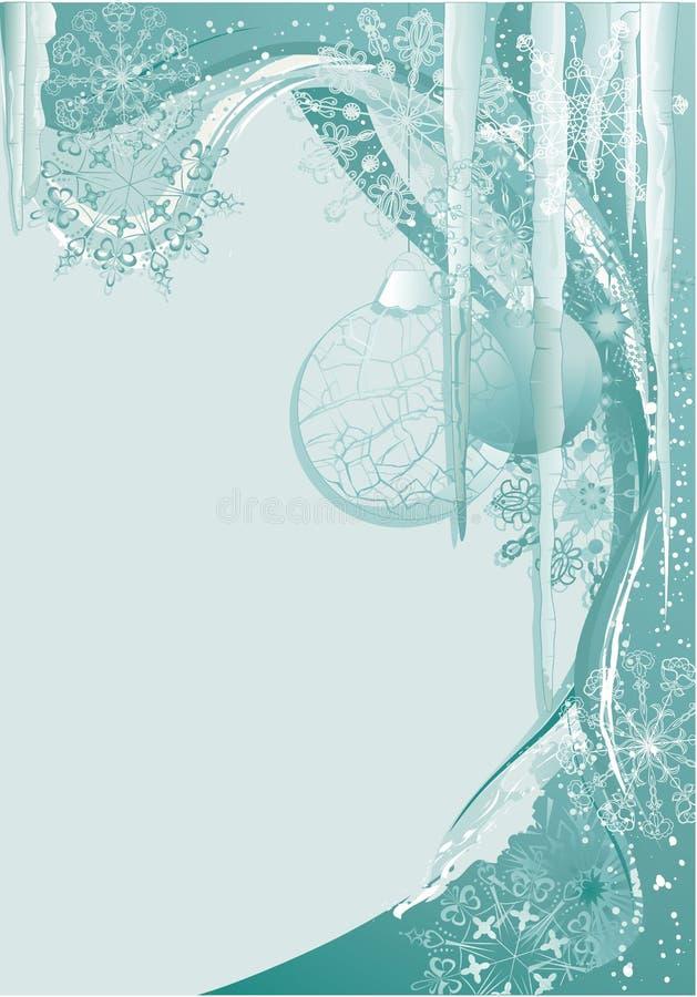 Free Blue Ice Christmas Background Royalty Free Stock Photos - 11552568
