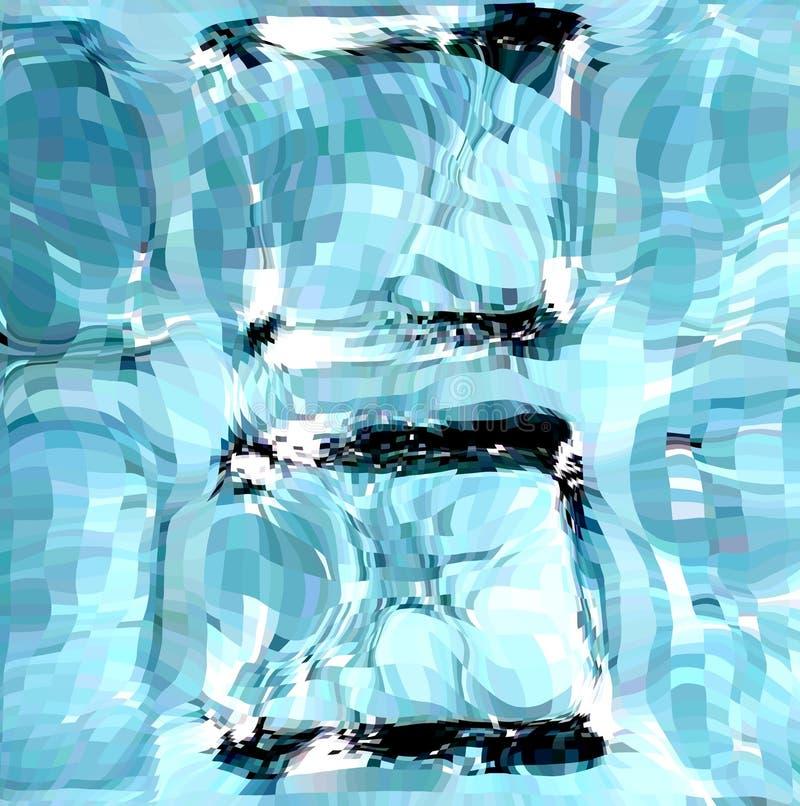 Blue Ice Cubes. Vector Illustration Stock Photos