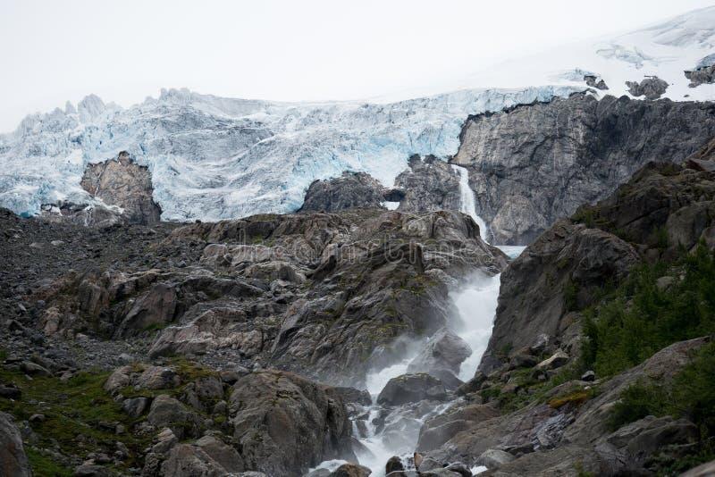 Blue ice glacier front. Buer glacier, Norway. stock image