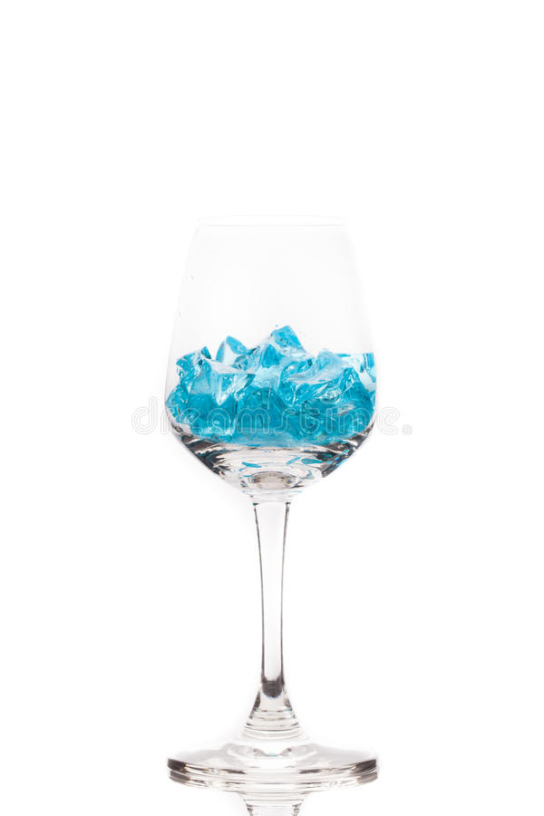 Download Blue ice in martini glass stock image. Image of cool - 37068555