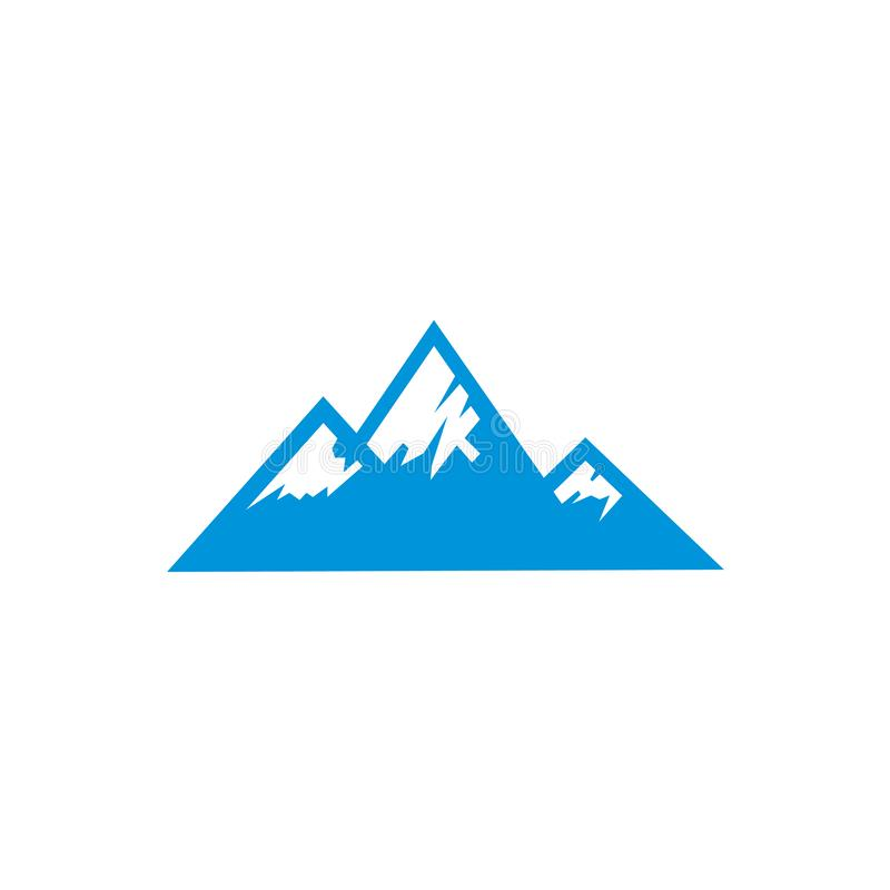 Blue ice mountain logo vector template royalty free illustration