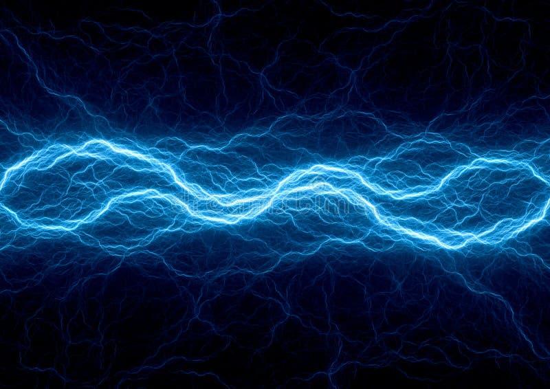 Blue ice plasma lightning. Electrical background. vector illustration