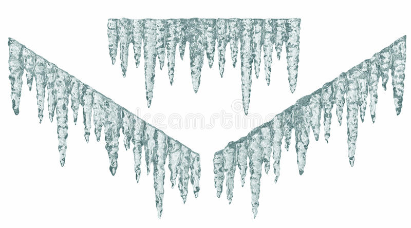 Blue icicles vector illustration