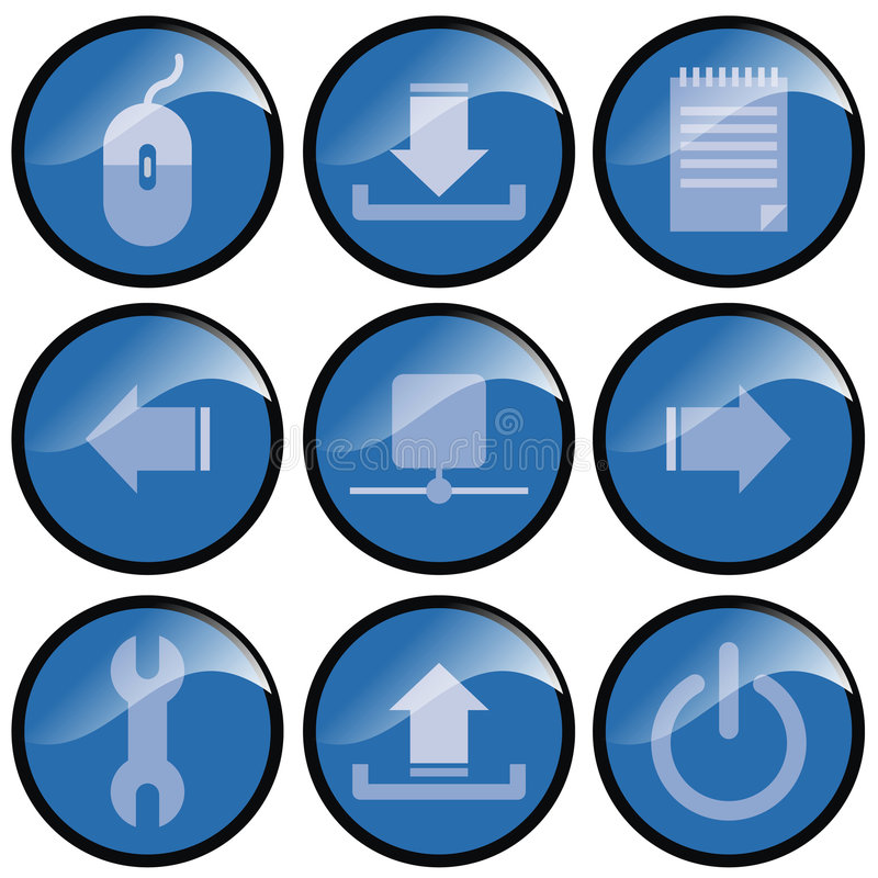 Download Blue Icon Buttons Stock Image - Image: 2313551