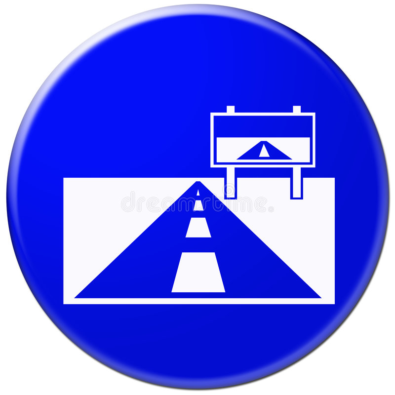 Download Blue Icon With Symbol Of Road Stock Photos - Image: 4651573