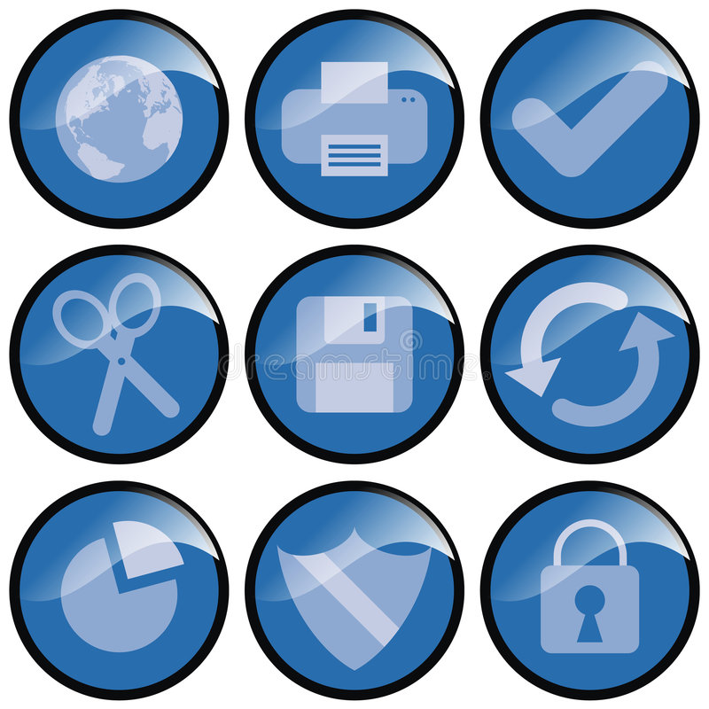 Download Blue Icons Stock Photo - Image: 2313520