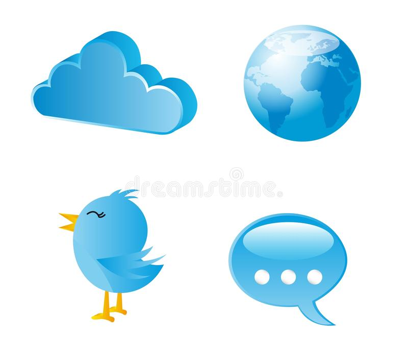Download Blue icons stock vector. Illustration of communication - 25349927