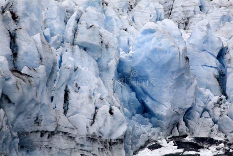 Blue Icy Portage Glacier Crevaces Alaska royalty free stock photo