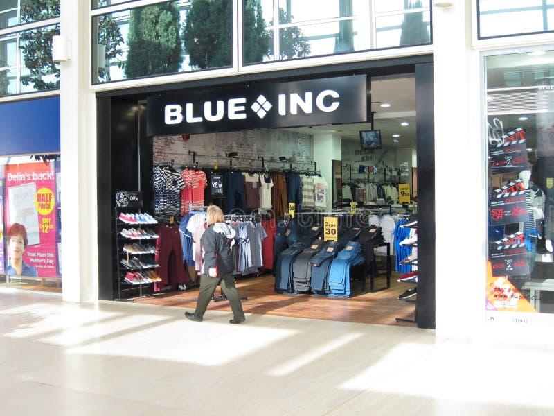 Blue Inc opslag. stock foto