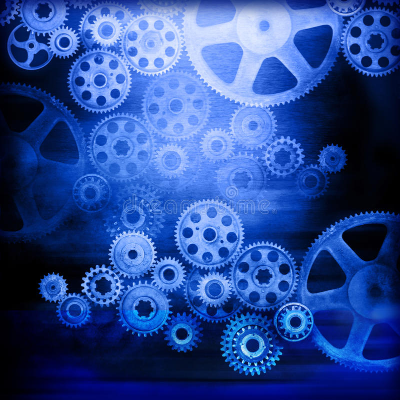 Cogs Gears Industrial Background stock illustration