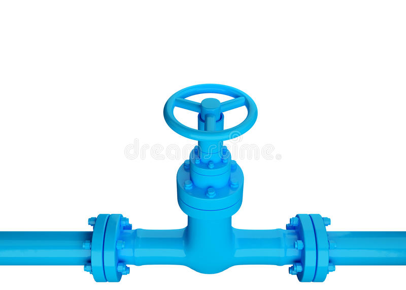 Blue Industrial pipe royalty free stock photography