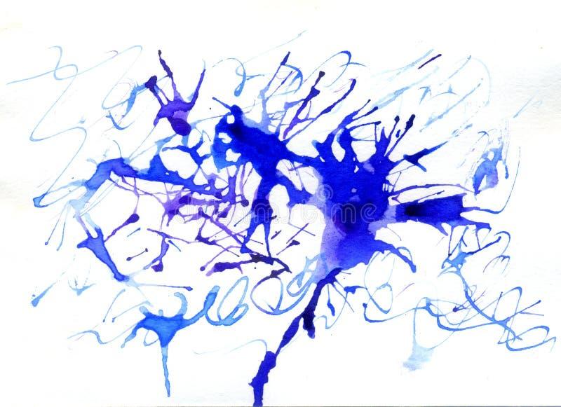 Blue Ink Blot royalty free stock photo