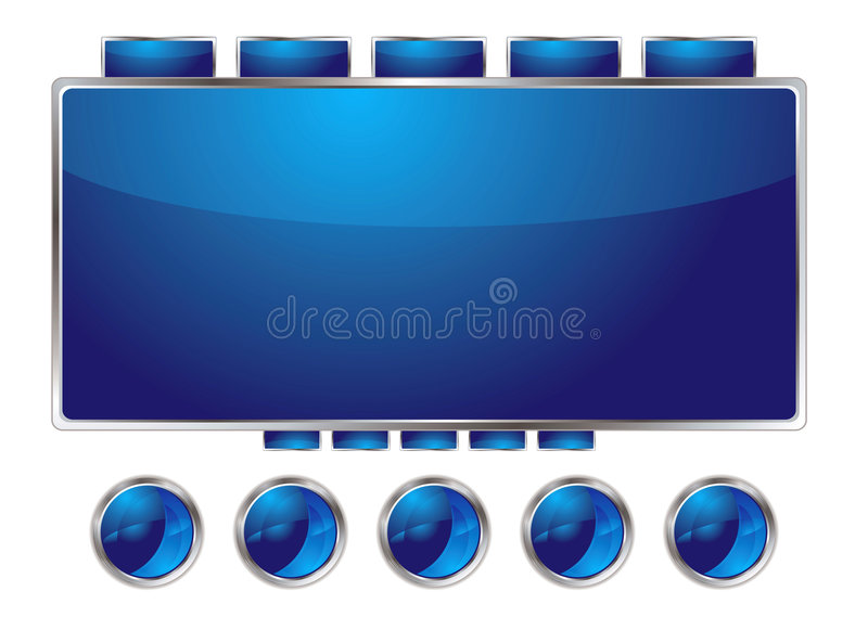 Download Blue interface stock vector. Illustration of shiny, concept - 7748876