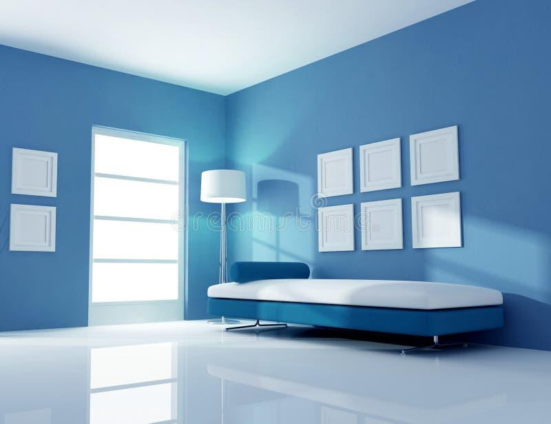 Blue interior stock illustration