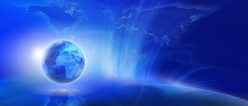 Blue internet background. (Global and Communication concept vector illustration