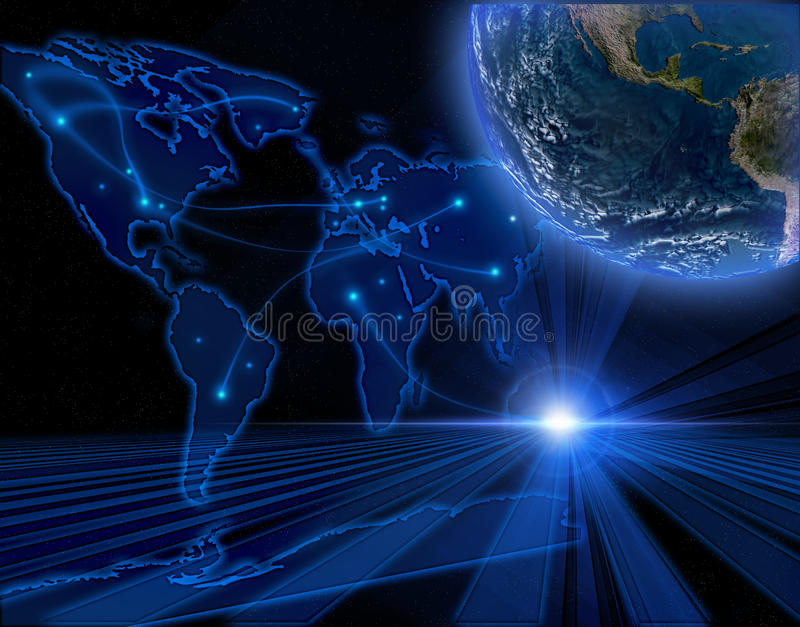 Blue internet background royalty free stock images