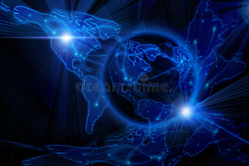 Blue internet background royalty free illustration