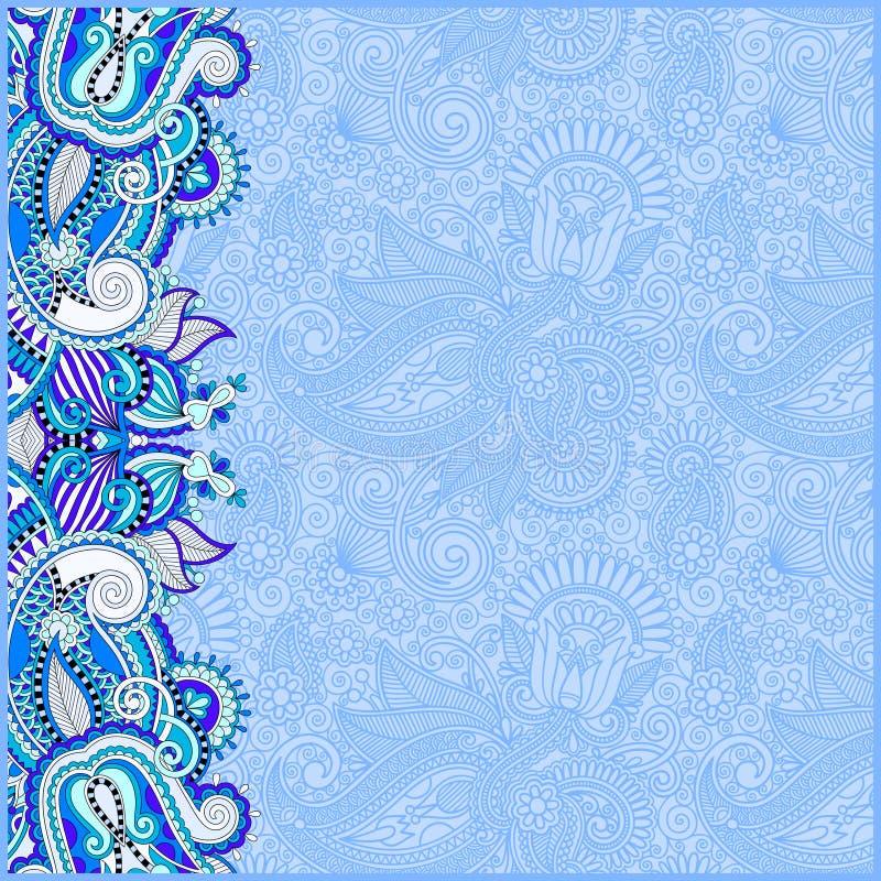 Blue invitation card with ethnic background royal ornamental de download blue invitation card with ethnic background royal ornamental de stock vector illustration of stopboris Choice Image