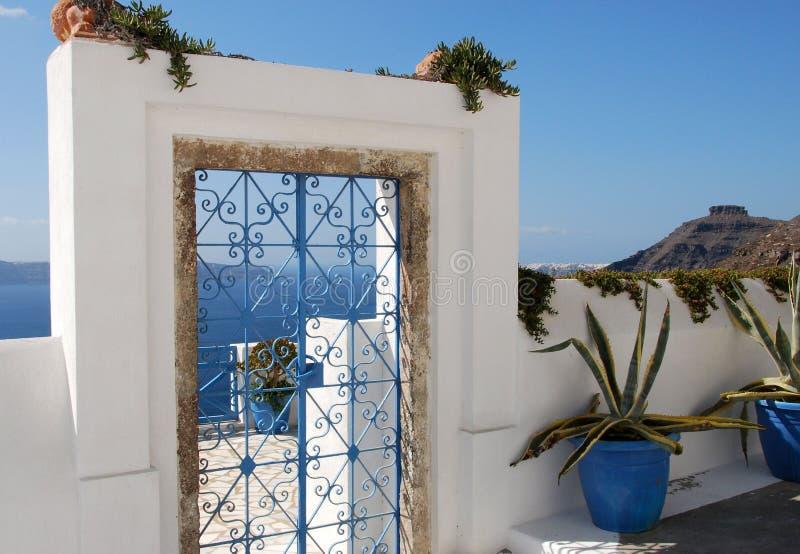 Blue Iron Gate stock photography