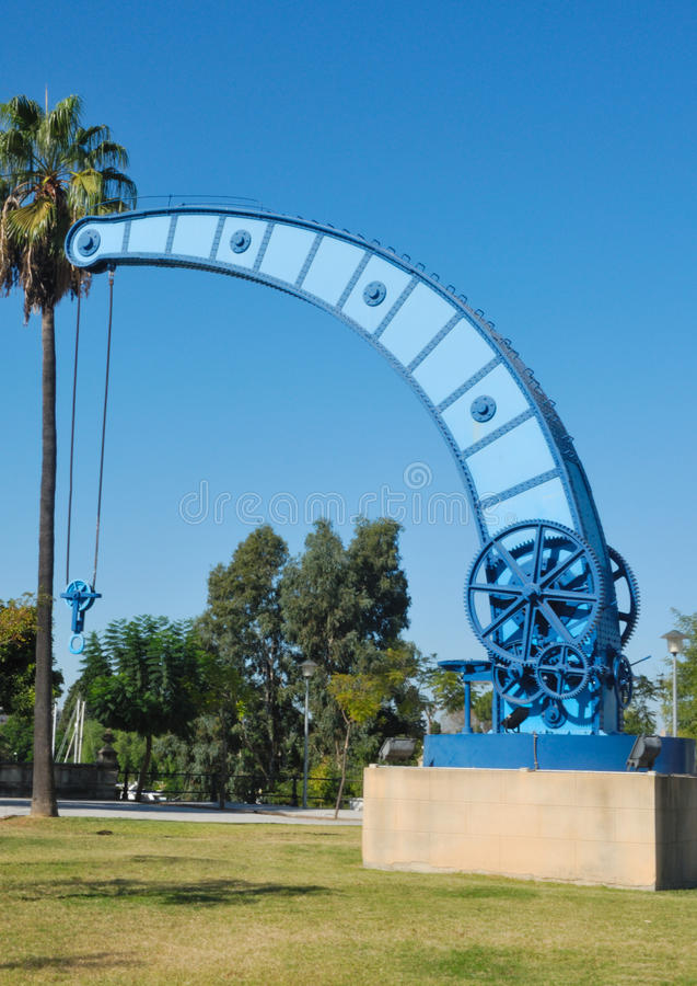 Blue iron technology stock photography