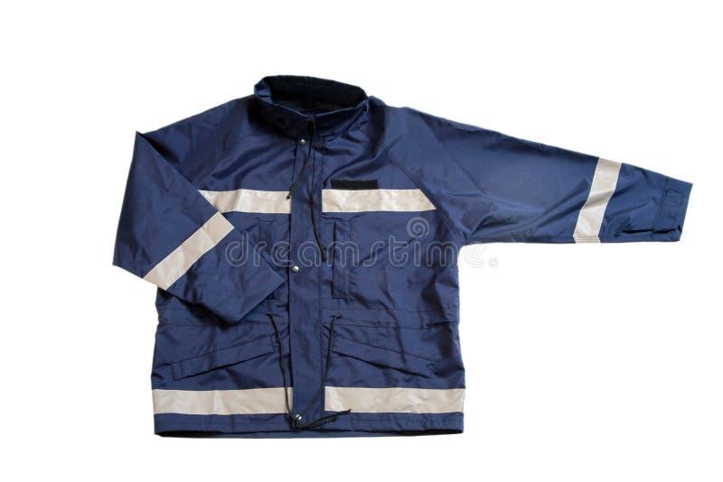 Blue jacket royalty free stock images
