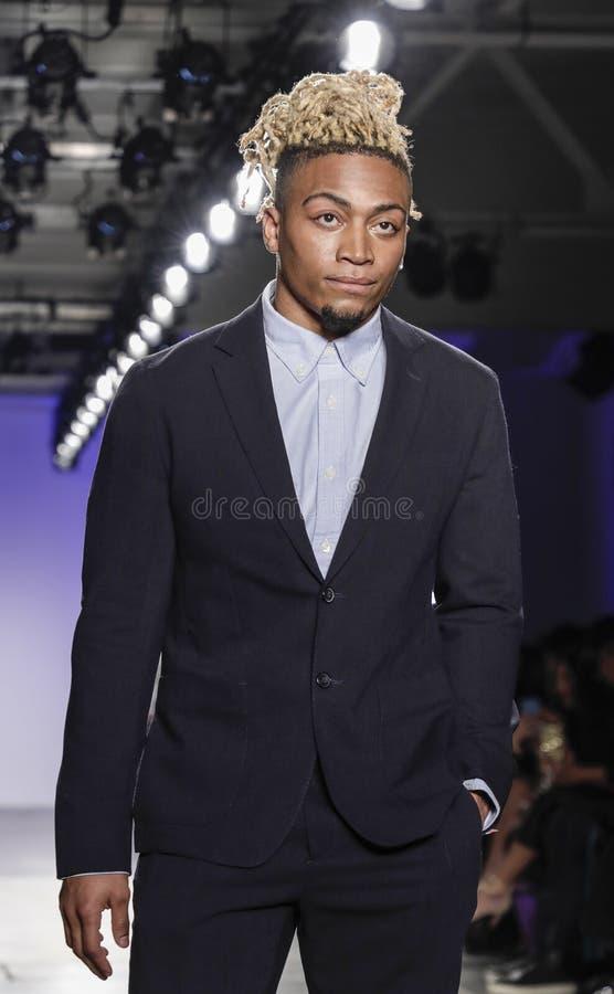 Blue Jacket Fashion Show 2020 stock image