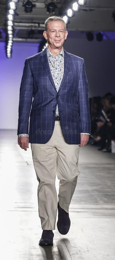 Blue Jacket Fashion Show 2020 stock photos
