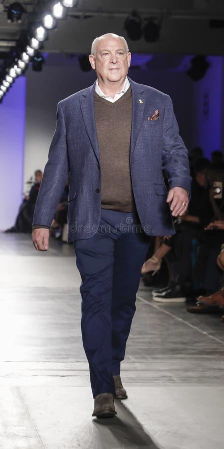 Blue Jacket Fashion Show 2020 stock photography