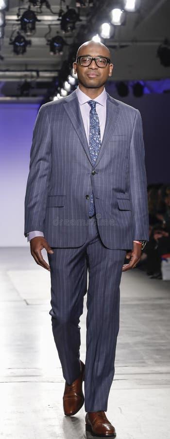 Blue Jacket Fashion Show 2020 stock photo